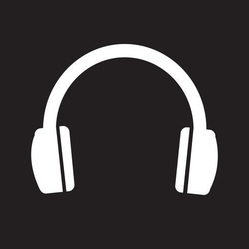 símbolo de ícone de fones de ouvido vetor