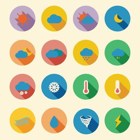 ícones planas de tempo vetor