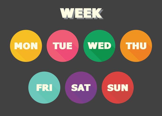 projeto de vetor de conceito de semana