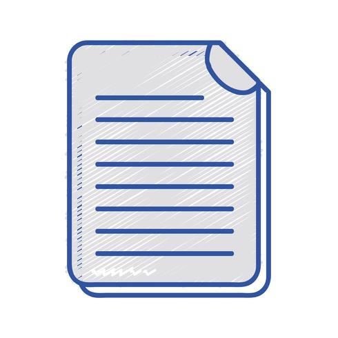 informações de documentos comerciais para informações corporativas vetor