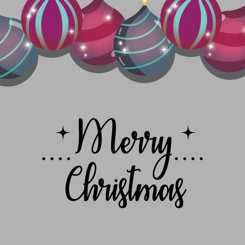 estilo de decoração de Natal feliz para celebração vetor