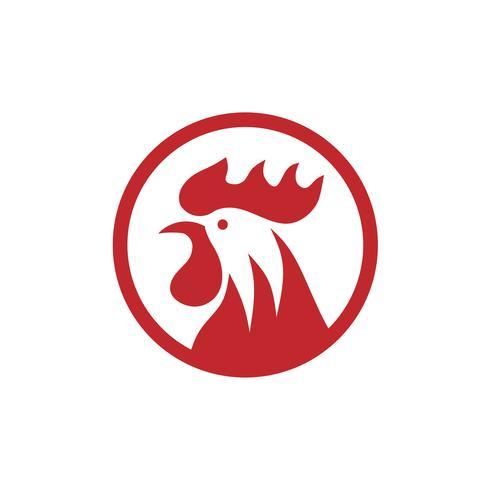 Cabeças de galinha com vetor de logotipo do círculo