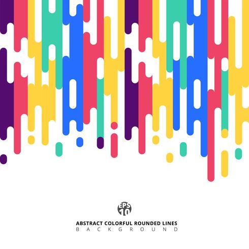 Linhas coloridas arredondadas abstratas de transição de meio-tom. vetor