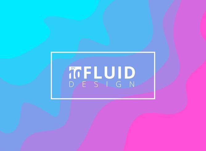 Fundo líquido azul e cor-de-rosa abstrato do projeto. vetor