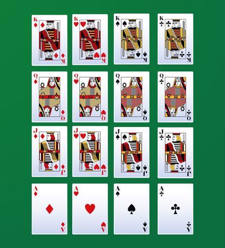 Cartas de lazer de poker vetor