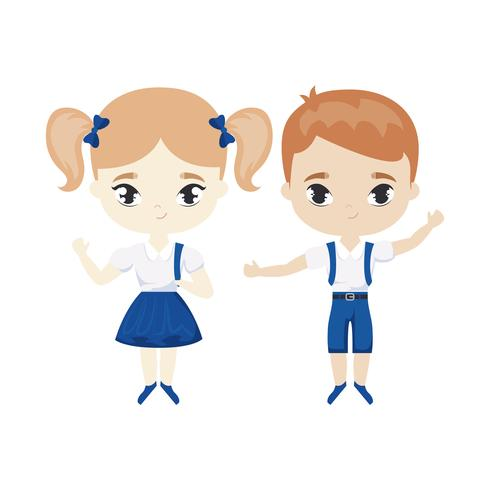 personagem de avatar bonitinho alunos vetor