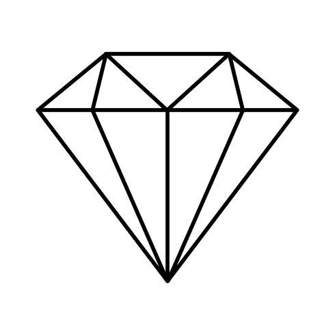imagem de ícone de diamante vetor