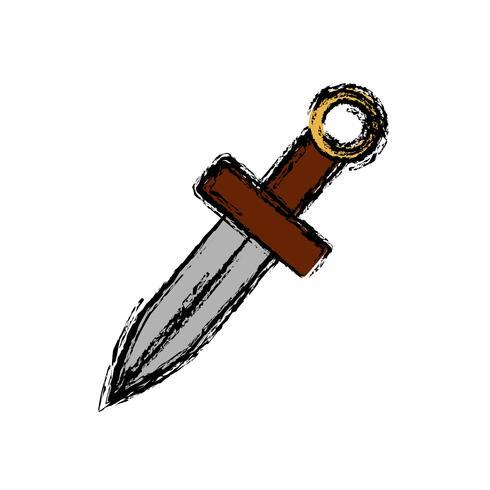 imagem de ícone de espada vetor