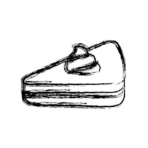 ícone de pedaço de bolo vetor