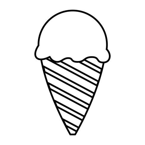 ícone de sorvete vetor