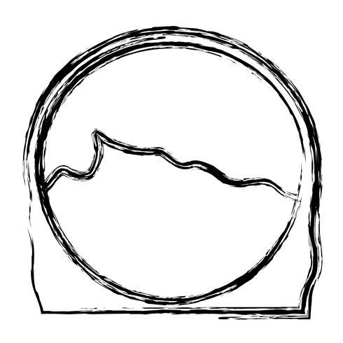 ícone de rosto de mulher dos desenhos animados vetor