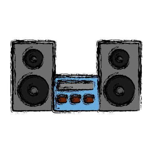 ícone do sistema estéreo vetor
