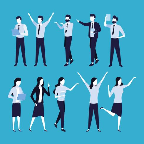 Desenhos animados de colegas de trabalho vetor