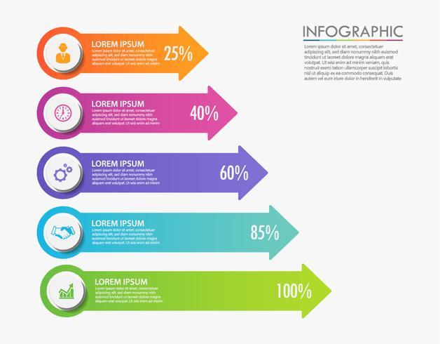 Visualização de dados corporativos. ícones de infográfico de cronograma projetados para modelo abstrato vetor