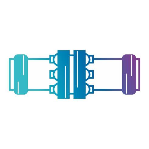 construção de equipamentos de reparação de tubo de encanamento silhueta vetor