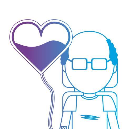 homem de linha com transfusão de doação de sangue doador vetor