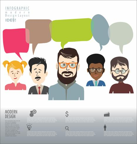 Brainstorming business concept design moderno infográfico vetor