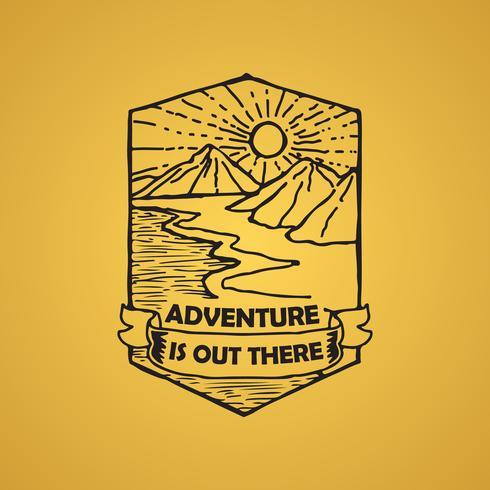 Citação de aventura e dizendo bom para impressão vetor