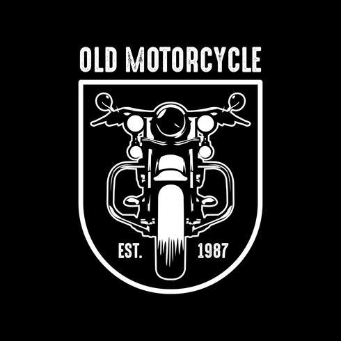 Emblema da motocicleta e logotipo, bom para impressão vetor