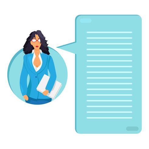 Trabalhador, com, documentos vetor