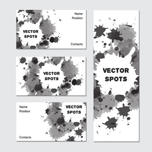 Cartão de visita de arte vetor