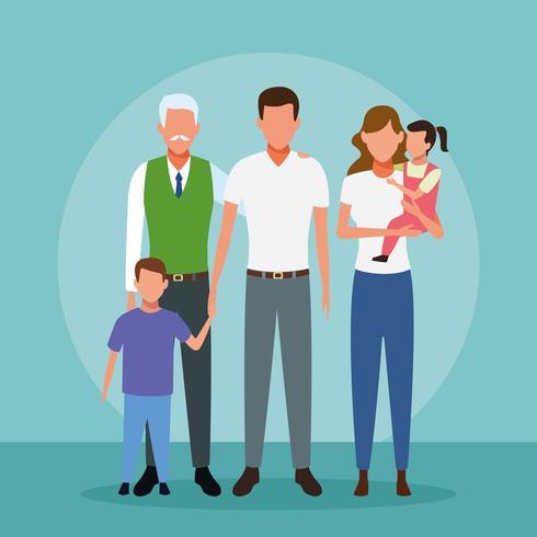Desenho de pessoas de família vetor