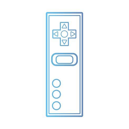 linha de tecnologia eletrônica controlador de videogame vetor