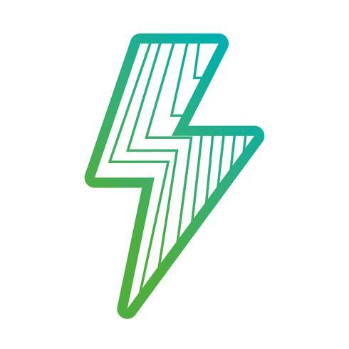 símbolo de poder de perigo de energia de linha vetor