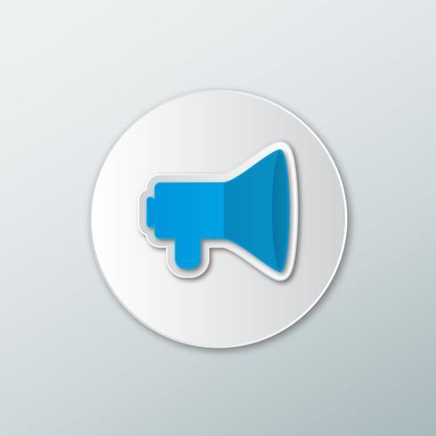 Ícone de alto-falante azul vetor