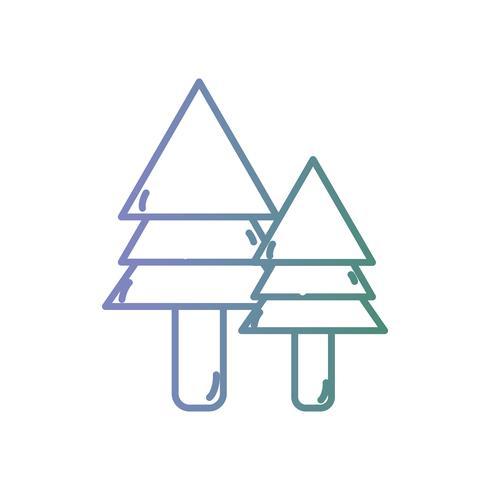 linha pinheiro natural ecológico vetor
