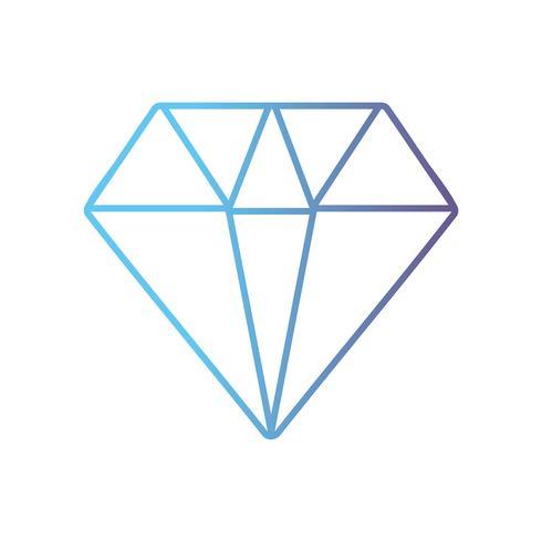 linha design de acessório elegante diamante bonito vetor