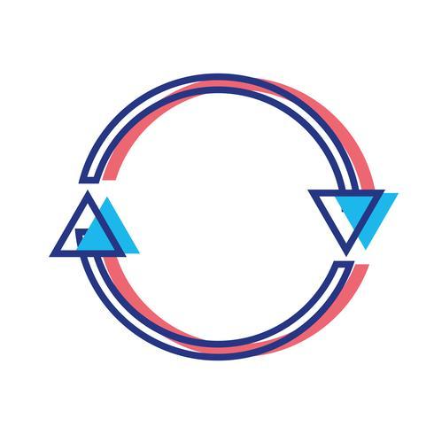 setas de cor no símbolo do círculo de progresso de carregamento vetor
