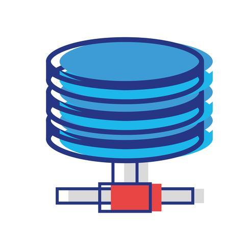 armazenamento de dados de tecnologia de disco rígido vetor