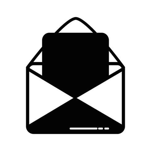 mensagem de cartão de contorno com informações de documento de carta vetor