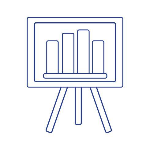 apresentação de estratégia de linha com barra gráfica de estatísticas vetor