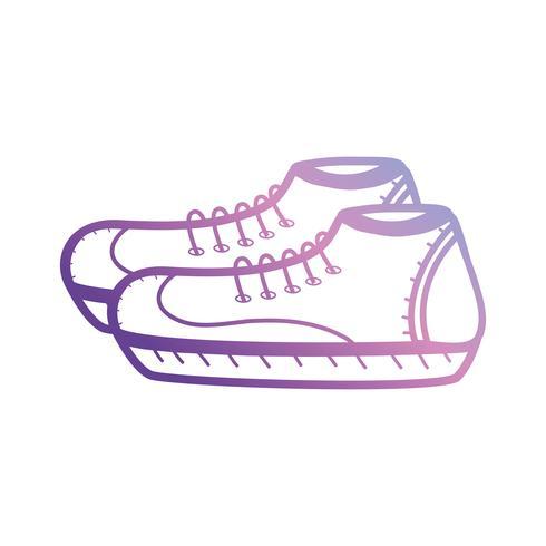 linha esporte sneakers design de estilo vetor