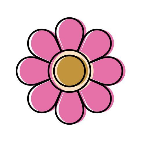 ícone de flor bonita vetor