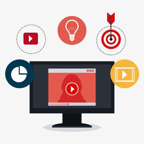 Marketing digital e social vetor