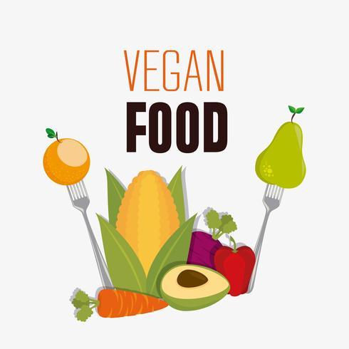 Projeto de comida vegan. vetor