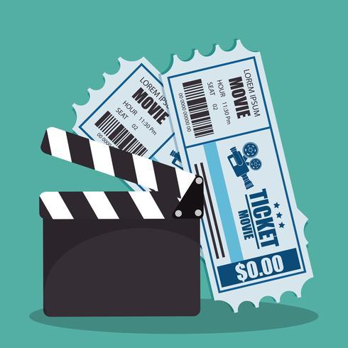 Ícones do cinema vetor