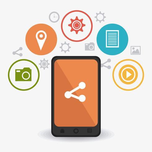Estratégias de marketing digital e móvel vetor