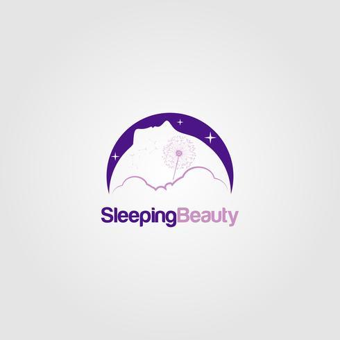 Logotipo do Sonho da Bela Adormecida vetor