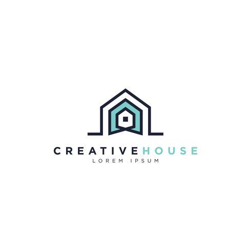 Símbolo do logotipo da casa criativa vetor
