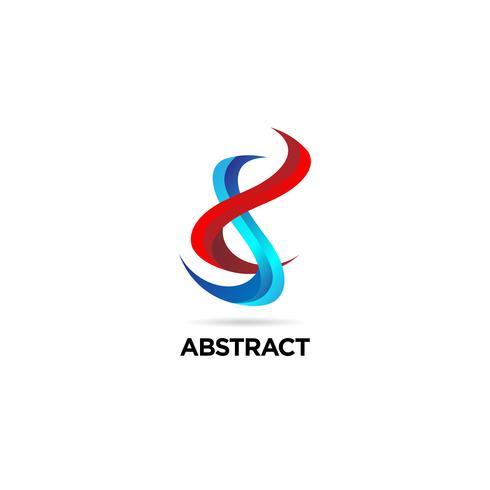 Logotipo de DNA de hélice abstrata vetor