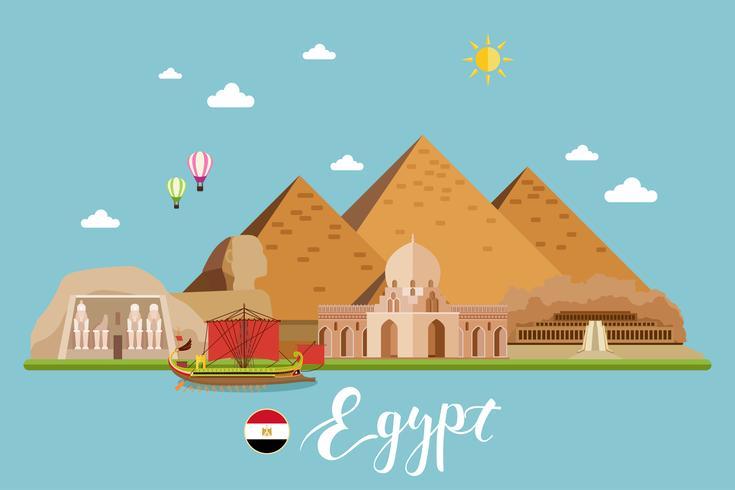 Paisagem de viagem do Egito vetor