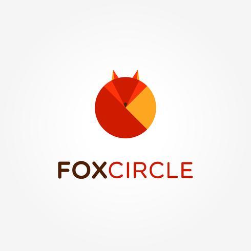 Logotipo abstrato do círculo Fox vetor