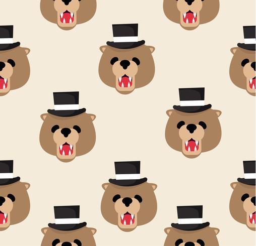Padrão de ursinho de pelúcia vetor