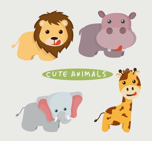 Vetor de animais fofos