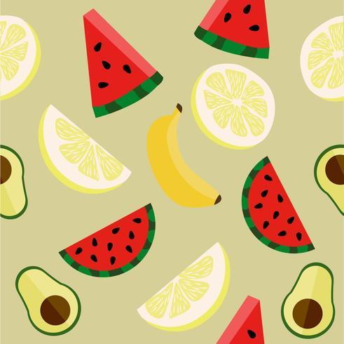 padrão de vetor de frutas
