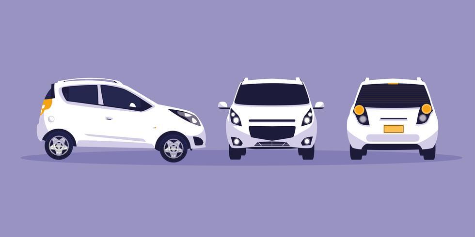 oficina de carros brancos vetor